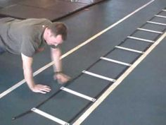 Upper body strength, stability and plyometrics in speed ladder - YouTube