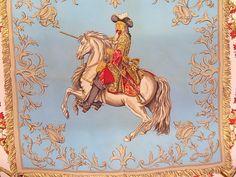 "Hermes Silk Scarf ""Ludovicus Magnus"" Blue"