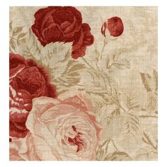 Kate Forman Roses Linen Fabric ($81) ❤ liked on Polyvore featuring home, home improvement, fabric, backgrounds, flowers, pictures and red