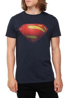 DC Comics Superman hombre de acero camiseta del logotipo | Tema candente