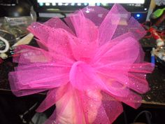 Hair poof from tulle
