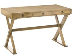 Natural oak campaign desk from Arteriors