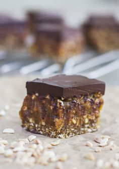 Who doesn't like a chewy, crunchy, rich chocolate bar? No one that's who. And this recipe has all that and more! It has a chewy nutty base, sweet gooey caramel with crunchy pieces of peanut swirled through and then a smooth chocolate ganache on top to finish it all of….and its healthy! (hallelujah!) I think...Read More »
