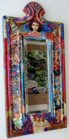 Mixed Media – Anne Vellinga Paint Pens, Mosaic, Mixed Media, Mirror, Frame, Painting, Home Decor, Art, Picture Frame