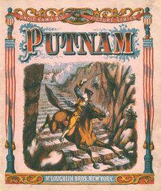 McLoughlin Bros. Uncle Sam Series - Putnam - Life of General Israel Putnam American Revolution General fought at Bunker Hill