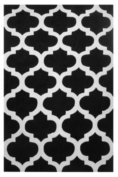 L.A. Rugs Capri Black/White Area Rug #LARugs #GlamModernTraditional