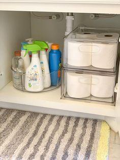 Glamorous Versatility s Bathroom Organization Essentials Container Stories - Home Organization Hacks, Bathroom Organisation, Bathroom Storage, Bathroom Interior, Organized Bathroom, Bathroom Remodeling, Ikea Bathroom, Container Organization, Mint Bathroom