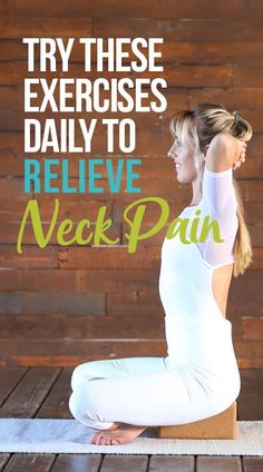 daily exercise Neck pain can be a real pain in the neck! Luckily, you can do these 3 neck pain exercises daily to reduce neck pain and feel better now. Yoga Routine, Daily Exercise Routines, Exercise For Kids, Squat Challenge, Short Workout, Neck Strengthening, Neck Exercises, Neck Stretches, Amigurumi