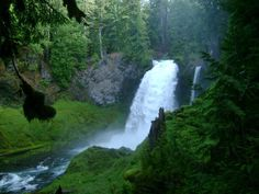 Sahalie Falls on the McKenzie River, OR