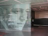 glass office design. creative glass graphics can transform or make a solid wall look like office design