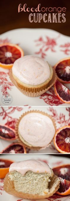 Blood Orange Cupcakes use fresh orange juice and vanilla bean to create a decadent cupcake that will remind you of an orange creamsicle, but way better.