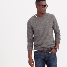 Marled cotton sweater : cotton | J.Crew