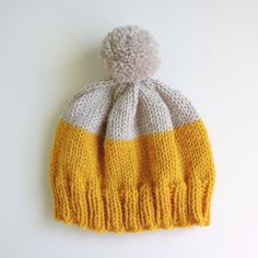 Weekender Hat in Mustard and Platinum  MADE TO by helloquiettiger
