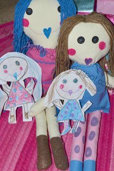 Paper Dolls = Fabric Dolls