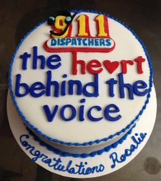 retirement police dispatcher cakes - Google Search