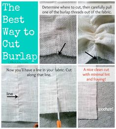 How to cut burlap without fraying
