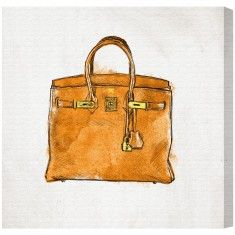 "Oliver Gal ""My Lucky Bag"" Canvas Fashion Wall Art - Available in 5 Sizes from The Well Appointed House"
