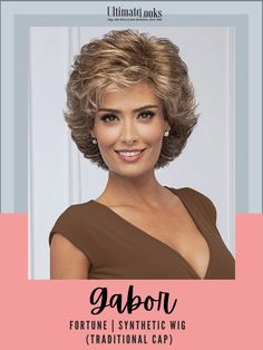 All-over loosely waved layers afford this fashionable, collar-length cut styling ease and versatility. #hairstyles #hairdo #hairoftheday #styleinspo #styles Gabor Wigs, Wig Cap, Synthetic Wigs, Hairline, Cut And Style, Hair Lengths, Layers, Hairstyles, Traditional