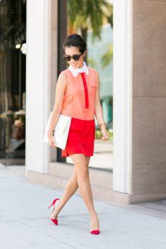 Summer Cheer :: Colorblock shift dress