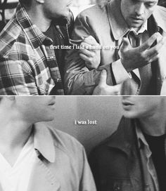 Dean + Castiel: The first time I laid a hand on you I was lost. #spn #destiel