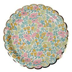 Meri Meri Liberty Plates - Poppy & Daisy