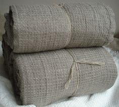 Soft Pure Linen Bath Towel 39 x 55 Natural Linen by LinenStyle, $39.99