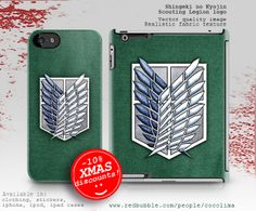 Attack on Titan. The Scouting Legion logo available for clothing and merchandising.