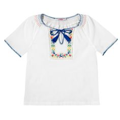 Tassel Detail Embroidered Top | Cath Kidston |