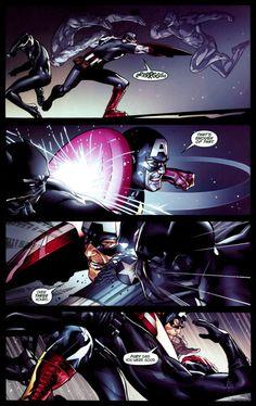 Cap vs Black Panther in Ultimate Captain America Annual #1 - Rafa Sandoval