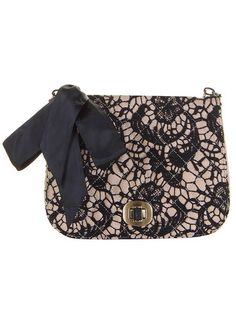 lace bow clutch