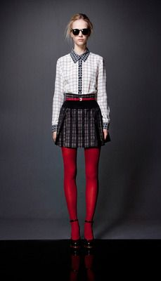 Red tights - the ultimate winter essential