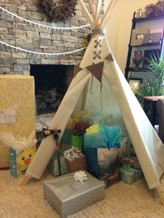 Shower gift for my daughter: Homemade TeePee