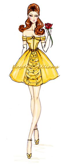 The Disney Diva's collection by Hayden Williams: Belle. Disney Princess. art. creative. fashion. #ForeverEileen