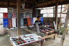 Traditional Tenun Fabric Lombok, Indonesia