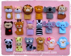 dedoches Felt theme animals