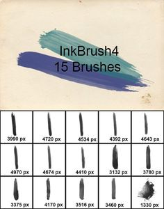 Buy InkBrush 4 by Flok on GraphicRiver. A set of 15 high quality InkBrush brushes (up to 4900 px resolution). Photoshop Brushes, Adobe Photoshop, Grunge, Shops, Photoshop Elements, Photoshop Tutorial, Artist At Work, Icon Design, Photo Editing