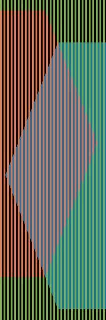 Carlos Cruz-Diez, Color Aditivo Triangular Uno, 2010