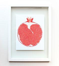 "Pomegranate Art Print, 8x10, Fruit Art Print, Hand-drawn Fruit , Fruit Illustration, Botanical, Fruit Art, ""Pomegranate"" by DesignsbyTrishaLynn on Etsy https://www.etsy.com/listing/268072607/pomegranate-art-print-8x10-fruit-art"
