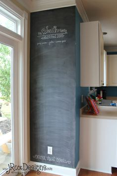Chalkboard Accent Wall by jRoxDesigns