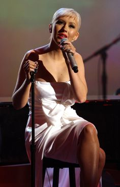 "Christina Aguilera delivers a passionate rendition of ""I Loves You, Porgy"" in tribute to Nina Simone during ""The GRAMMY Nominations Concert Live!!"" on Dec. 3, 2008"