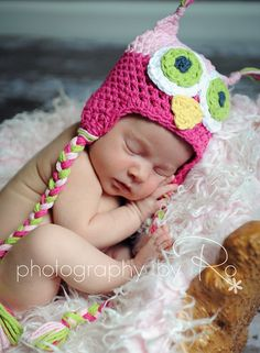 Adorable Handmade Owl Hat...Photography Prop...Newborn, Baby, Child, Preteen...You choose the size. $26.00, via Etsy.