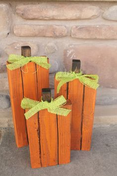 How-To Make DIY Wood Pumpkins