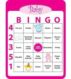 babyshower bingo