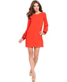 This shift dress is perfect for winter and spring. Even summer.