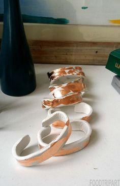 copper napkin rings , cuivre, rame, noel
