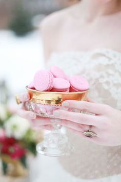 Pink macarons | Esther Gallarday Photography | see more on: http://burnettsboards.com/2014/04/dream-fairytale-bridal-inspiration/
