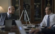 As VP he sparked an all-out trade war between China and the US simply to get between the president and his mentor, multi-billionaire Raymond Tusk (Gerald McRaney). Many machinations later Tusk was on his knees.