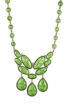Green Acrylic Cluster Necklace by Danielle Stevens on @HauteLook