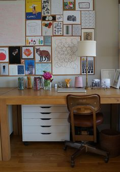 Lovely home office via Behind The Lines