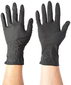 1000 Pack Black Barrier Nitrile Examination Gloves Lustrous Small Sized Chemical Gloves